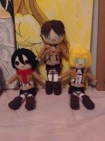Plushies Attack on Titan 1 by AnimeJanice