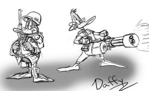 Daffy sketches by buster126
