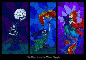 The Phoenix and Water Nymph by KatGirlStudio