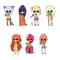 Collab Adopts: SET PRICE [CLOSED] by Coffee-Kiyo