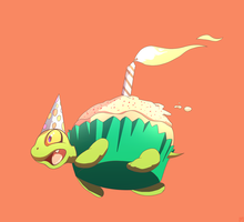 turtle cupcake by phation