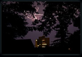 Lightning silhouette by deaconfrost78