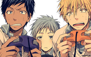 Render:Aomine,kuroko,kise play  a game by PlumaDeAzucar