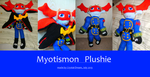 Myotismon plushie by Crystal-Dream