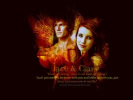 Jace e Clary Wallpaper by EverHatake