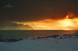 Winter at Lofoten by Stridsberg