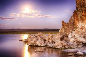 Supermoon over Mono Lake by rickbattle