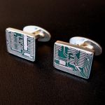 Circuit Board Cufflinks2 by harlewood