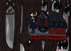 A bloody treehouse by TMNTISLOVE