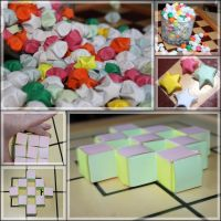 Paper strip folding: stars and blocks by Almath3a