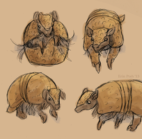 Armadillo Daemon by ErinPtah