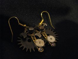 Steampunk Earrings by Lollipopdunce