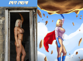 Kaley Carson IS Power Girl By Ulics by zenx007