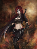 Katarina du Couteau, the Crimson blade of Noxus by Penator