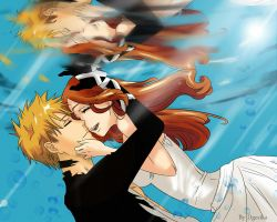 Ichigo and Orihime - BLEACH by Dgesika