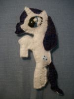 Rarity Handmade Mini Felt Pocket Pony 1 by grandmoonma