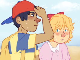 ness too stupid to wear hat by kindergraph