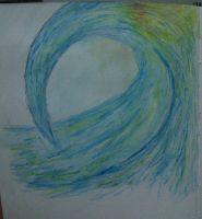 Wave (SEA) - Water Colour Pencils by AnonScone