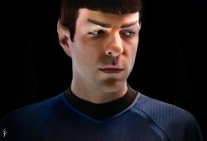 Spock in Turbolift by fenraven