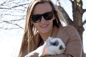 The Celebrity Rabbit With Its Owner On the Common by Miss-Tbones