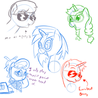 The cool ponies wear glasses by TanMansManTan