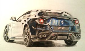 Ferrari FF Drawing by And300ZX