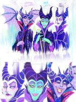 Maleficent Trio ( Concept Art ) by paje-chan