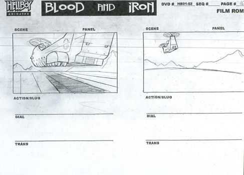 Hellboy Storyboard 1 by npaniry