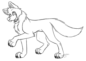 Wolf Lineart by JustAutumn