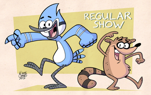 Mordecai and Rigby by BezerroBizarro