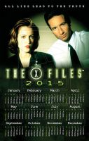 X-Files Wall Calendar 2015 by rickymanson