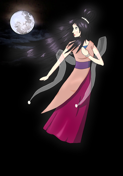 The Chinese Moon Godess by Red-Gyrados