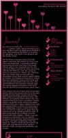 Think Pink CSS Journal Lay-out by LorrieWhittington