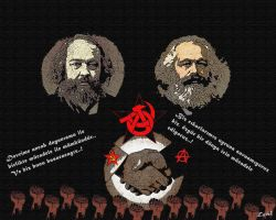 Marx and Bakunin by RosaSanat