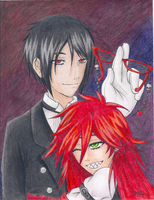 KS- Sebastian and Grell by Chiherah