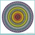 Rainbow Aztec Mandala Collab with katahrens by Quaddles-Roost