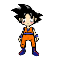 Chibi Goku Fullbody by GirlOfGore