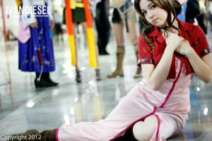 Aerith Cosplay by rina-imbers