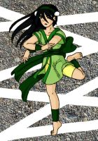 Toph coloured by Mikha