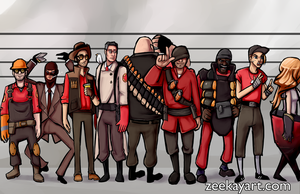 tf2 - the usual suspects by ZeeKayArt