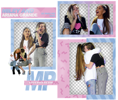 PACK PNG 947| MILEY CYRUS AND ARIANA GRANDE. by MAGIC-PNGS