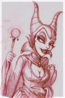 maleficent sketch by 14-bis