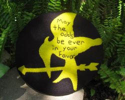 MockingJay Hunger Games Pillow by P-isfor-Plushes