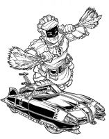 60s-era MAIDMAN, from EMPOWERED: ANIMAL STYLE by AdamWarren