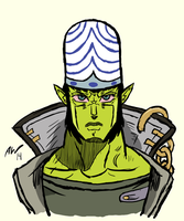 Mojo Jojo/Kujo Jotaro Commission by MagicalAmicus