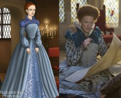 Elizabeth I Blue dress by msbrit90