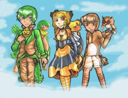 Gijinka Adoptables : Flying Types    CLOSED by Zoriku