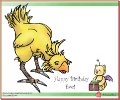 B-day card to Theve by SS-Chan