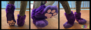 Purple Fursuit Sockpaws by TECHNlCOLOUR