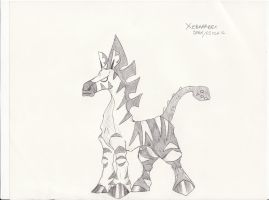 Black and White Girafarig Evo by Tomatem13